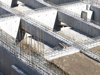 大規模建設現場 基礎 躯体 構造 鉄筋 設計