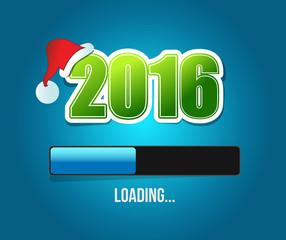 2016 santas christmas loading illustration design