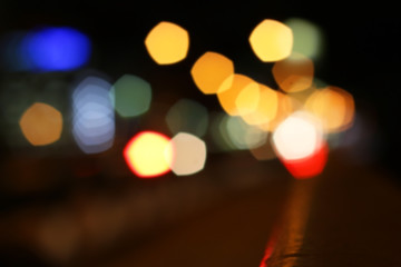 blurred colored highlights
