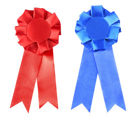 Award ribbon isolated on white background