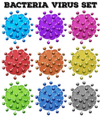Bacteria virus in many colors
