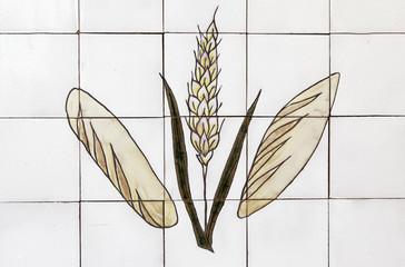 Patterned tiles bread