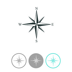 Wind rose compass vector icon.