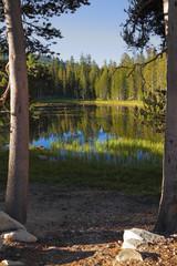 The picturesque transparent lake