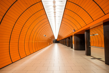 Printed kitchen splashbacks Train Station Marienplatz underground station in Munich, Germany