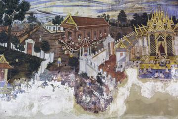 Painting murals late Ayutthaya period