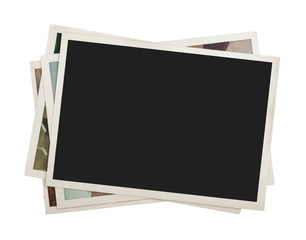 Stack of photos isolated