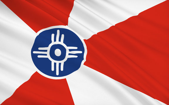 State Flag of Wichita - a city in the US, the largest locality o