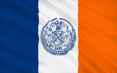State Flag of New York City - the largest city in the United Sta