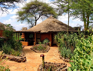 the safari Lodge in Kenya's Masai Mara National Reserve