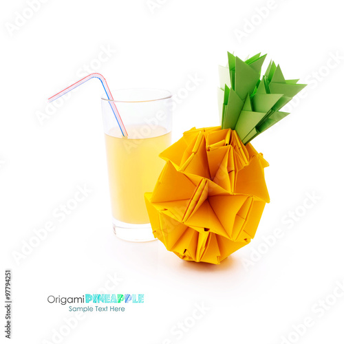 Glass With Pineapple Juice Stock Photo And Royalty Free Images On