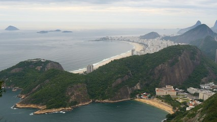 Fototapete - Panning shot of Rio de Janeiro, Brazil