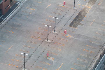 Empty Space in a Parking Lot..