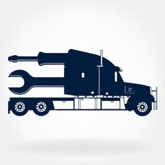 Truck repair logo vector design template