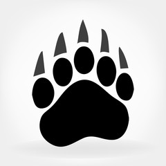 bear footprint logo