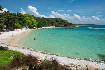 Sandy beach in the Thai island Ko Samet