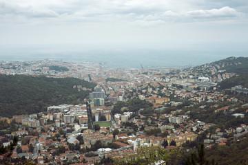 Trieste city aerial