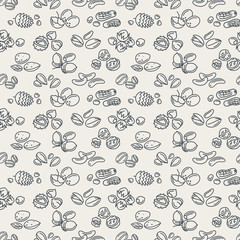 seamless background of nuts pattern