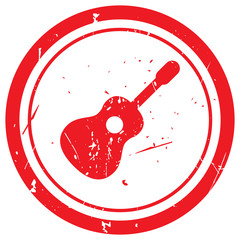 Red Guitar rubber stamp