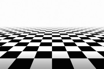 Checkered Background In Perspective Wall mural