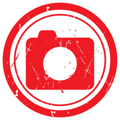 Red Camera rubber stamp