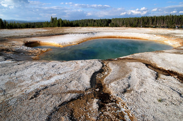 Heiße Quelle im Yellowstone National Park, Wyoming, USA