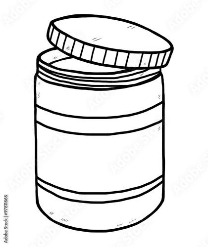 drug bottle cartoon vector and illustration black and white hand
