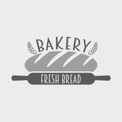bakery and bread shop logo, label or badge