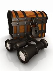 binoculars and chest