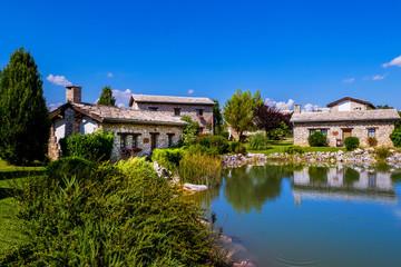 Newly built vintage village, ethno village in Herzegovina