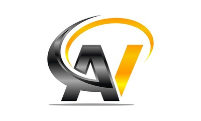 Letter AV Modern Logo
