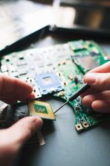 Analysis (installing) of processor in CPU socket