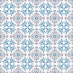 Seamless background image of vintage royal kaleidoscope pattern.