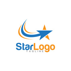 vector arrow star logo icon