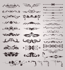 Vector set of vintage decorative elements