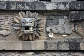 Feathered Serpent at the Temple of Quetzalcoatl, Teotihuacan [Mexico City]