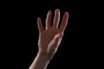 Gesture five fingers