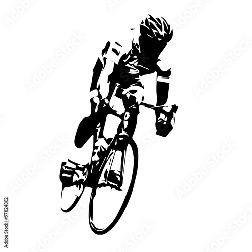 Quot Cyclist Vector Road Cycling Quot Stock Image And Royalty