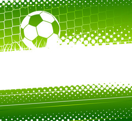 Abstract soccer background. Soccer ball and gate Goalkeeper