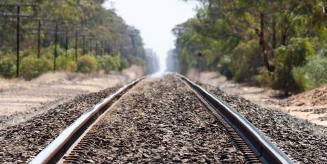 Railway tracks, Wal Wal, Victoria, Australia