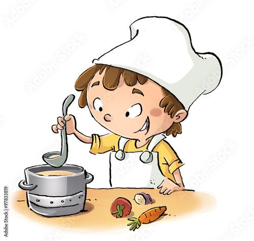 Ni o cocinero stockfoto 39 s en rechtenvrije afbeeldingen for Cocinar imagenes animadas