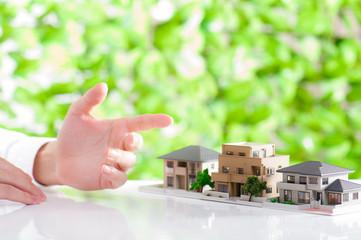 住宅相談イメージ,緑の背景