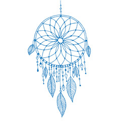 Dream catcher, vector hand drawn illustration