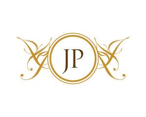 JP Luxury Ornament initial Logo