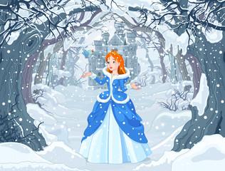 Canvas Prints Fairytale World Princess and Bird