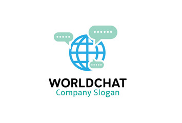 World Chat Design Illustration