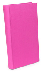 The color pink photo albums on wite backround