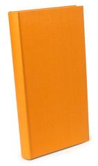The color orange photo albums on wite backround