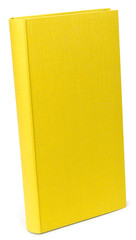The color yellow photo albums on wite backround