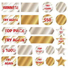 Scratch card vector elements